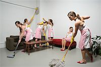 Woman cleaning Stock Photo - Premium Royalty-Freenull, Code: 614-02258865