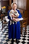 Portrait of Amish Woman Holding Puppies    Stock Photo - Premium Rights-Managed, Artist: George Remington, Code: 700-02260091