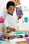 Boy Painting    Stock Photo - Premium Rights-Managed, Artist: Marden Smith, Code: 700-02264853