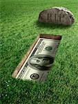 American Currency and Tombstone    Stock Photo - Premium Rights-Managed, Artist: Marc Simon, Code: 700-02265003