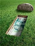 Turkish Currency and Tombstone    Stock Photo - Premium Rights-Managed, Artist: Marc Simon, Code: 700-02265007