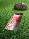 Taiwanese Currency and Tombstone    Stock Photo - Premium Rights-Managed, Artist: Marc Simon, Code: 700-02265011