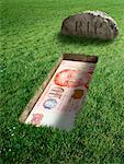 Singaporean Currency and Tombstone    Stock Photo - Premium Rights-Managed, Artist: Marc Simon, Code: 700-02265013