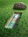Hong Kong Currency and Tombstone    Stock Photo - Premium Rights-Managed, Artist: Marc Simon, Code: 700-02265015