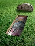 Australian Currency and Tombstone    Stock Photo - Premium Rights-Managed, Artist: Marc Simon, Code: 700-02265019