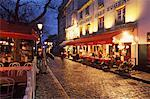 Montmartre in the Evening, Paris, France
