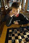 Boy Playing Chess, Portland, Oregon, USA    Stock Photo - Premium Rights-Managed, Artist: Mark Downey, Code: 700-02265161