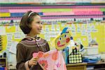 Puppet Show in Classroom, Portland, Oregon    Stock Photo - Premium Rights-Managed, Artist: Mark Downey, Code: 700-02265166