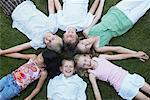 Group of Kids Lying in a Circle, Elmvale, Ontario, Canada