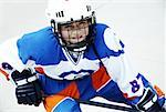 Portrait of a boy playing ice hockey Stock Photo - Premium Royalty-Free, Artist: Darrell Lecorre, Code: 625-02266348