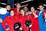 Portrait of a group of car racing drivers Stock Photo - Premium Royalty-Freenull, Code: 625-02266377