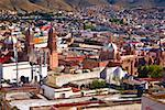 Panoramic view of buildings in a city, Zacatecas, Mexico Stock Photo - Premium Royalty-Freenull, Code: 625-02268037
