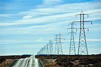 Electrical pylons Stock Photo - Premium Royalty-Freenull, Code: 621-02279045