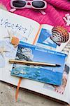 Vacation scrapbook on beach Stock Photo - Premium Royalty-Free, Artist: Arcaid, Code: 604-02288494