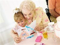 Birthday Party in Seniors' Residence    Stock Photo - Premium Royalty-Freenull, Code: 600-02289181