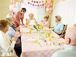 Birthday Party at Seniors' Residence    Stock Photo - Premium Royalty-Free, Artist: Matthew Plexman, Code: 600-02289186