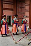 Palace Guards, Deoksugung, Seoul, South Korea    Stock Photo - Premium Rights-Managed, Artist: R. Ian Lloyd, Code: 700-02289635