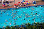 Crowded Public Swimming Pool, Seoul, South Korea    Stock Photo - Premium Rights-Managed, Artist: R. Ian Lloyd, Code: 700-02289643
