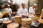 Chefs Preparing Dim Sum, Parkview Restaurant, Shilla Seoul Hotel, Seoul, South Korea Stock Photo - Premium Rights-Managed, Artist: R. Ian Lloyd, Code: 700-02289657