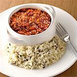 Chili & rice    Stock Photo - Premium Rights-Managed, Artist: foodanddrinkphotos, Code: 824-02294178