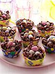 Chocolate Easter nests editorial food    Stock Photo - Premium Rights-Managed, Artist: foodanddrinkphotos, Code: 824-02294573