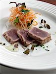 Grilled tuna    Stock Photo - Premium Rights-Managed, Artist: foodanddrinkphotos, Code: 824-02294662
