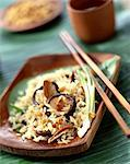 sauteed rice with chinese mushrooms    Stock Photo - Premium Rights-Managed, Artist: Photocuisine, Code: 825-02303229