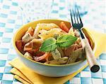 penne, raw ham, tomatoes and mozzarella salad    Stock Photo - Premium Rights-Managed, Artist: Photocuisine, Code: 825-02303664