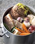 four meat pot-au-feu    Stock Photo - Premium Rights-Managed, Artist: Photocuisine, Code: 825-02303889