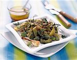 Broad bean and leek salad with bran    Stock Photo - Premium Rights-Managed, Artist: Photocuisine, Code: 825-02304089