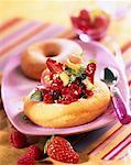 Donuts filled with mixed fruits    Stock Photo - Premium Rights-Managed, Artist: Photocuisine, Code: 825-02304309