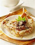 Veal chop with morels and cream sauce    Stock Photo - Premium Rights-Managed, Artist: Photocuisine, Code: 825-02304531