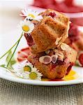 Raspberry financiers    Stock Photo - Premium Rights-Managed, Artist: Photocuisine, Code: 825-02304625