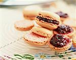 Raspberry macaroons    Stock Photo - Premium Rights-Managed, Artist: Photocuisine, Code: 825-02304641