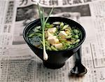soya bean and scallion soup    Stock Photo - Premium Rights-Managed, Artist: Photocuisine, Code: 825-02304907