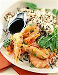 Pan-fried prawns with rice    Stock Photo - Premium Rights-Managed, Artist: Photocuisine, Code: 825-02304952