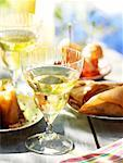 aperitif, white wine and tapas    Stock Photo - Premium Rights-Managed, Artist: Photocuisine, Code: 825-02305026