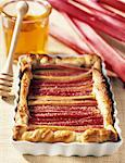 rhubarb and honey tart    Stock Photo - Premium Rights-Managed, Artist: Photocuisine, Code: 825-02306123