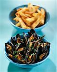Bouchot mussels à la marinière    Stock Photo - Premium Rights-Managed, Artist: Photocuisine, Code: 825-02306165