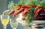 Crayfish,dill and aquavit    Stock Photo - Premium Rights-Managed, Artist: Photocuisine, Code: 825-02307725