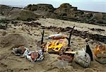 Grilling fish by the sea    Stock Photo - Premium Rights-Managed, Artist: Photocuisine, Code: 825-02307765