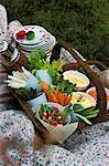 basket of dips    Stock Photo - Premium Rights-Managed, Artist: Photocuisine, Code: 825-02308052