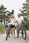 Couple Bike Riding, Elmvale, Ontario, Canada    Stock Photo - Premium Rights-Managed, Artist: Jerzyworks, Code: 700-02346545