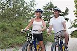 Couple Bike Riding, Elmvale, Ontario, Canada    Stock Photo - Premium Rights-Managed, Artist: Jerzyworks, Code: 700-02346548