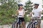 Couple Bike Riding, Elmvale, Ontario, Canada    Stock Photo - Premium Rights-Managed, Artist: Jerzyworks, Code: 700-02346549