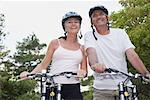 Couple Bike Riding, Elmvale, Ontario, Canada    Stock Photo - Premium Rights-Managed, Artist: Jerzyworks, Code: 700-02346550