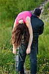 Man Carrying Woman over Shoulder, Toronto, Ontario, Canada    Stock Photo - Premium Rights-Managed, Artist: Blue Images Online, Code: 700-02348198