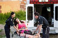 Paramedics Loading Woman into Ambulance, Toronto, Ontario, Canada    Stock Photo - Premium Rights-Managednull, Code: 700-02348199