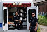 Portrait of Paramedics with Ambulance, Toronto, Ontario, Canada    Stock Photo - Premium Rights-Managed, Artist: Blue Images Online, Code: 700-02348210