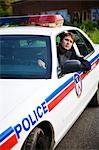 Police Officer in Cruiser, Toronto, Ontario, Canada    Stock Photo - Premium Rights-Managed, Artist: Blue Images Online, Code: 700-02348221